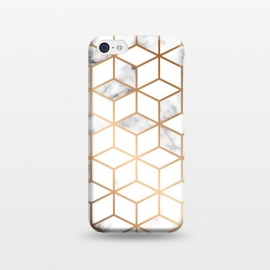 iPhone 5C  Marble Geometry 006 by Jelena Obradovic