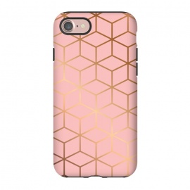 iPhone 8/7  Pink & Gold Geometry 011 by Jelena Obradovic
