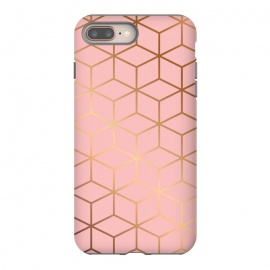 iPhone 8/7 plus  Pink & Gold Geometry 011 by Jelena Obradovic