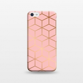 iPhone 5C  Pink & Gold Geometry 011 by Jelena Obradovic