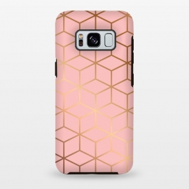 Galaxy S8 plus  Pink & Gold Geometry 011 by