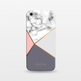 iPhone 5/5E/5s  Marble Geometry 016 by Jelena Obradovic
