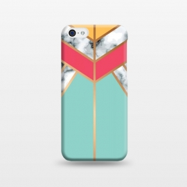 iPhone 5C  Marble Geometry 020 by Jelena Obradovic