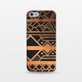 iPhone 5/5E/5s  Black and Gold 028 by Jelena Obradovic