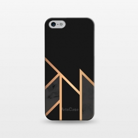 iPhone 5/5E/5s  Black and Gold 035 by Jelena Obradovic