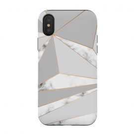 iPhone Xs / X  Marble Geometry 044 by Jelena Obradovic (Marble, marbling, texture, design, vector, illustration, black and white, gray, monochrome, surface, luxurious, elegant, background, stone, natural, print, pattern, repeat, abstract, art, card, creative, decoration, effect, backdrop, graphic, modern, contemporary, shapes, organic, branding, surface )