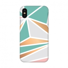 iPhone X  Marble Geometry 048 by Jelena Obradovic