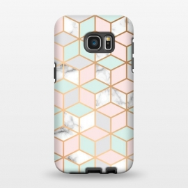 Galaxy S7 EDGE  Marble & Gold Geometry 051 by Jelena Obradovic