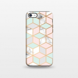 iPhone 5C  Marble & Gold Geometry 051 by Jelena Obradovic