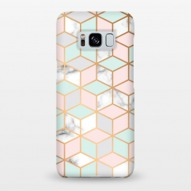 Galaxy S8+  Marble & Gold Geometry 051 by Jelena Obradovic