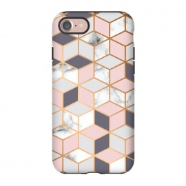 iPhone 8/7  Marble & Gold Geometry 052 by Jelena Obradovic