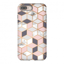 Marble & Gold Geometry 052 by Jelena Obradovic