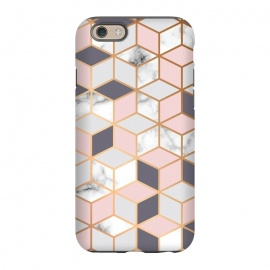 iPhone 6/6s  Marble & Gold Geometry 052 by Jelena Obradovic