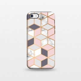 iPhone 5C  Marble & Gold Geometry 052 by Jelena Obradovic