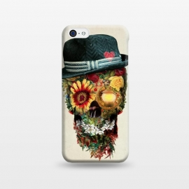 iPhone 5C  Skull Lover by Riza Peker (skull,skulls,floralskull,sugarskull,flowers,romantic,roses,art)