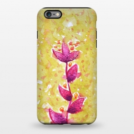 iPhone 6/6s plus  Abstract Watercolor Flower In Purple And Green by Boriana Giormova