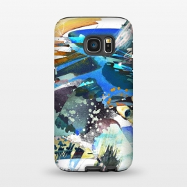 Galaxy S7  Abstract watercolor splatter and brushstrokes by Oana