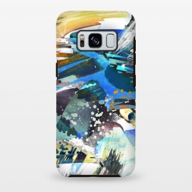 Galaxy S8+  Abstract watercolor splatter and brushstrokes by Oana