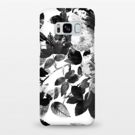Galaxy S8+  Black and white ink roses by Oana