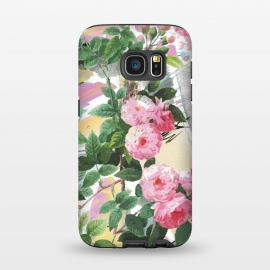 Galaxy S7  Pink painted roses by Oana