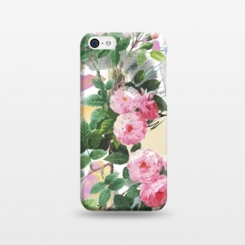iPhone 5C  Pink painted roses by Oana