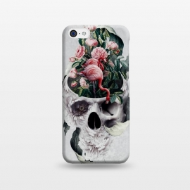 iPhone 5C  Life and Death by Riza Peker (skull,flowers,animals,flamingo,surreal,digital,art)