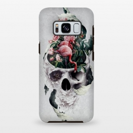 Galaxy S8+  Life and Death by Riza Peker (skull,flowers,animals,flamingo,surreal,digital,art)