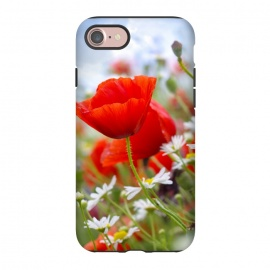 iPhone 8/7  Red & White Flowers by Bledi