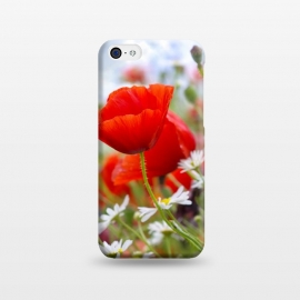 iPhone 5C  Red & White Flowers by Bledi