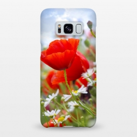 Galaxy S8+  Red & White Flowers by Bledi