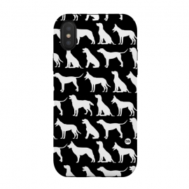 iPhone X  Pop Dogs by Paula Lukey (dogs,dog,dog phonecase,dog pattern,dog design,black and white,dog breeds)