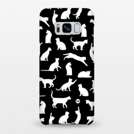 Galaxy S8+  Playful Cats by Paula Lukey (cat,cats,playful cats,cat print,cat pattern,black and white,chat)