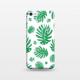 iPhone 5C  Monstera Leaves by Paula Lukey (monstera,monstera leaf,tropical,tropical plant,plant,green leaf,green leaves,beach,foliage,ocean foliage,lush )
