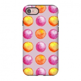 iPhone 8/7  Juicy Watercolor Pink And Orange Spheres Pattern by Boriana Giormova