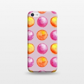 iPhone 5C  Juicy Watercolor Pink And Orange Spheres Pattern by Boriana Giormova