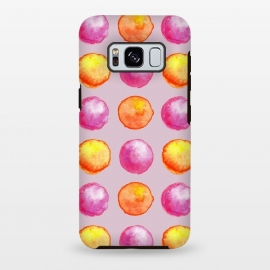 Juicy Watercolor Pink And Orange Spheres Pattern by Boriana Giormova