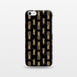 iPhone 5C  Gold Pineapples by Paula Lukey