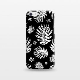 iPhone 5C  Monstera Leaves Black and White by Paula Lukey (monstera,monstera leaf,leaves,black and white,tropical leaf,beach print,tropical print,plant,tropical plant,jungle,jungle plant)