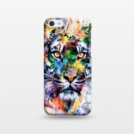 iPhone 5C  Tiger VII by Riza Peker (wild,cat,tigers,colorful,digital,watercolor,art)