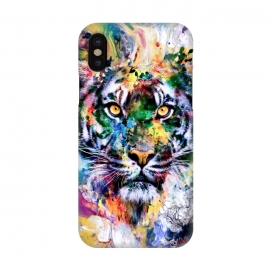 iPhone X  Tiger VII by Riza Peker (wild,cat,tigers,colorful,digital,watercolor,art)