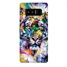 Galaxy Note 8  Tiger VII by  (wild,cat,tigers,colorful,digital,watercolor,art)