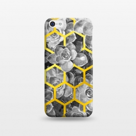 iPhone 5C  Black and White Succulent Gold Geometric by Alemi