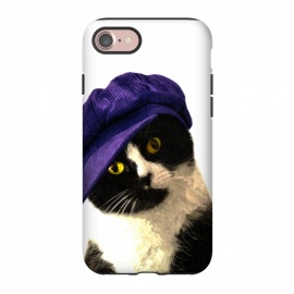 iPhone 8/7  Cute Cat Blue Hat by Alemi