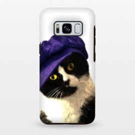 Galaxy S8 plus  Cute Cat Blue Hat by