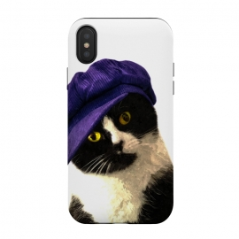 iPhone Xs / X  Cute Cat Blue Hat by Alemi