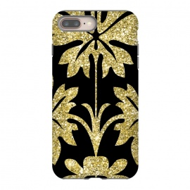 iPhone 8/7 plus  Gold Glitter Black Background by Alemi