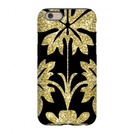 iPhone 6/6s  Gold Glitter Black Background by Alemi