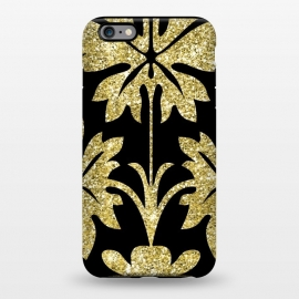 iPhone 6/6s plus  Gold Glitter Black Background by Alemi