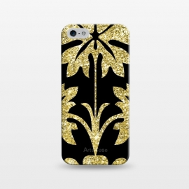 iPhone 5/5E/5s  Gold Glitter Black Background by Alemi