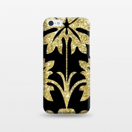 iPhone 5C  Gold Glitter Black Background by Alemi